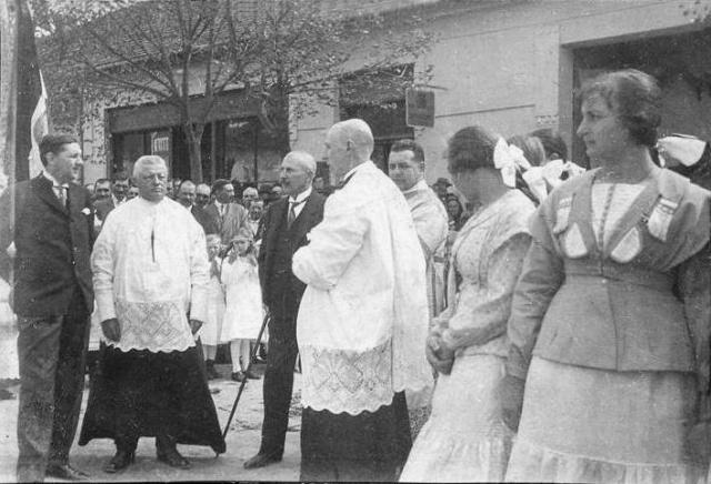 Harangszentelés 1929 május 3-án, Dr. Glattfelder Gyula és más fontos személyek