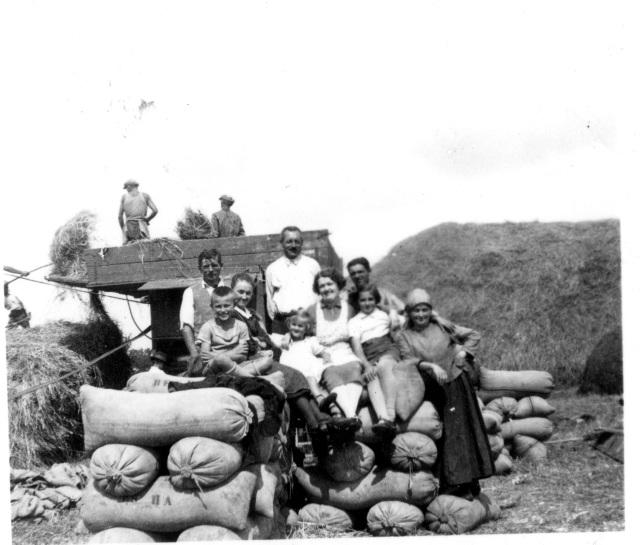 Strifler család arat 1939 körül