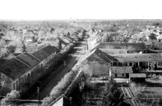 Kilátás a toronyból nyugati irányban, 1964.