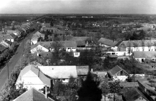 Aussicht aus dem Kirchenturm Richtung Norden, 1964