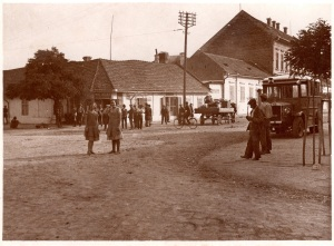 Hauptplatz von Elek vor 1941.