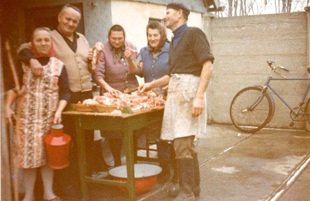 Disznóvágás a Durst családnál, 1975-78 körül