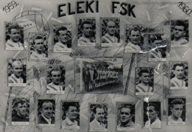 Az Eleki Futball-Sportklub 1959/1960-as tablója.