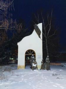 Eleki németek kiűzésének emlékműve 2012. február 3-án este
