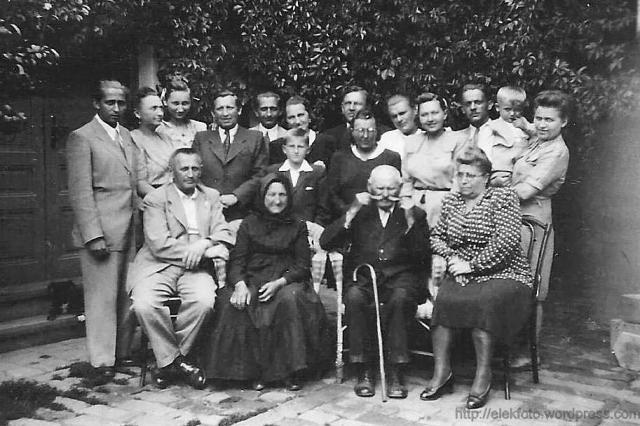 Az eleki Tisch -Timár -Tihanyi család 1947 körül