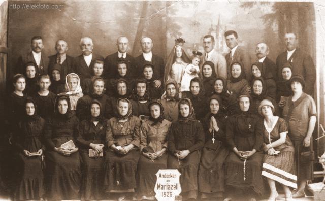 Elekiek Mariazellben, 1926.