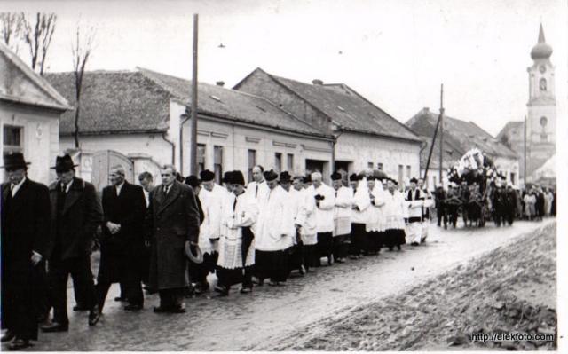 Reibel Mihály temetési menete 1959. november 4-én
