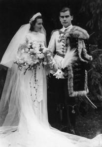 Kállay Kristóf és Vásárhelyi Veronika esküvője 1942-ben