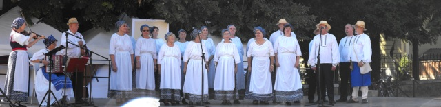 A 2012-es Békében Békésben rendezvény egyik fellépő együttese panorámaképen