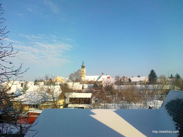 Téli hangulat Eleken, 2012 december elején.