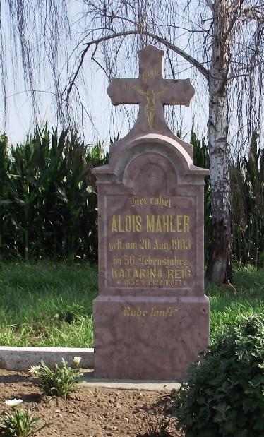 Mahler Alajos, Dr. Mester György nagyapjának sírja.