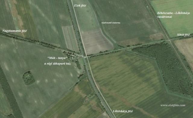 A telkek helye manapság (forrás Google Earth)