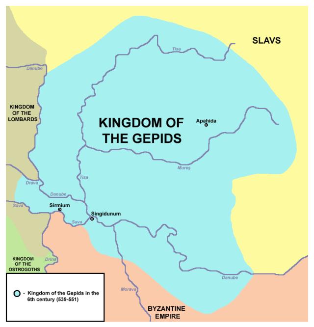 Az egykori gepida királyság