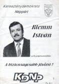 A KDNP polgármesterjelöltje 1994-ből
