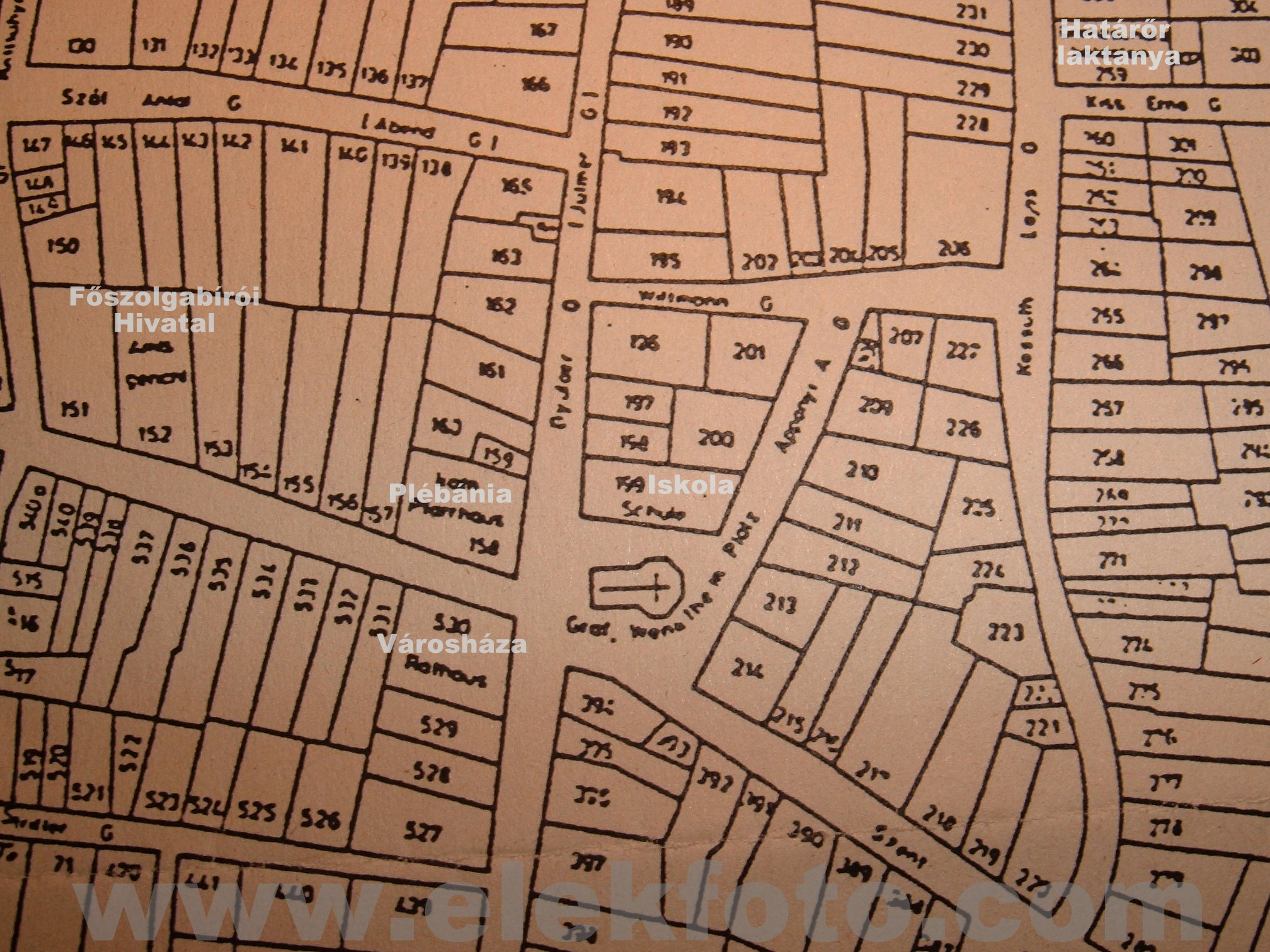 hrsz térkép Utcanevek régen és ma | elekfoto hrsz térkép
