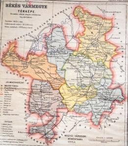 Békés Vármegye térképe Kogutovicz: Megyei térképek