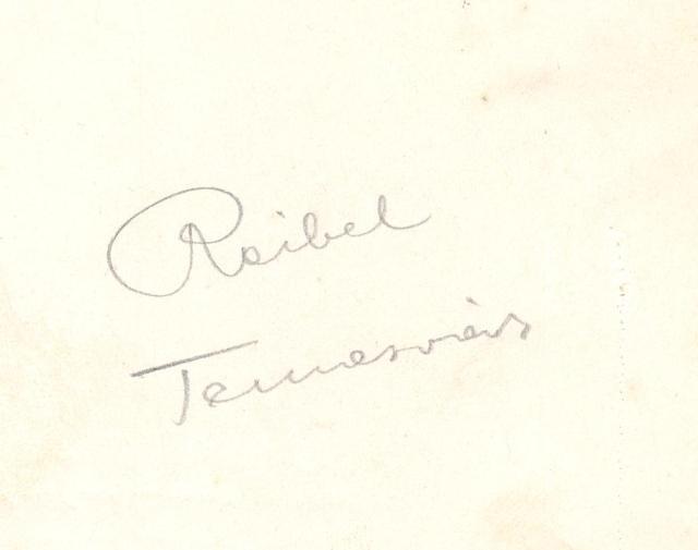 Reibel kézjegye még Temesvárról
