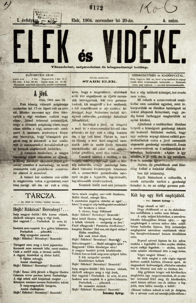 Az 1904 novemberi címlap
