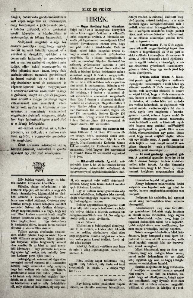 Hírek a második oldalon