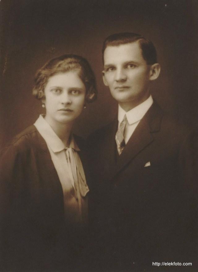 Hammer Rudolf és felesége 1926-ban