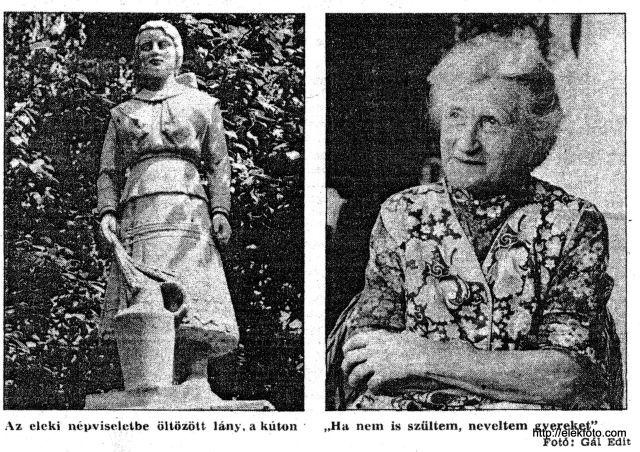 Regős Anna, a Resi-Brunnen modellje, 1990-ben, 70 évesen