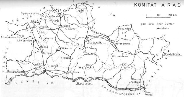 Az eleki járás Arad vármegyében