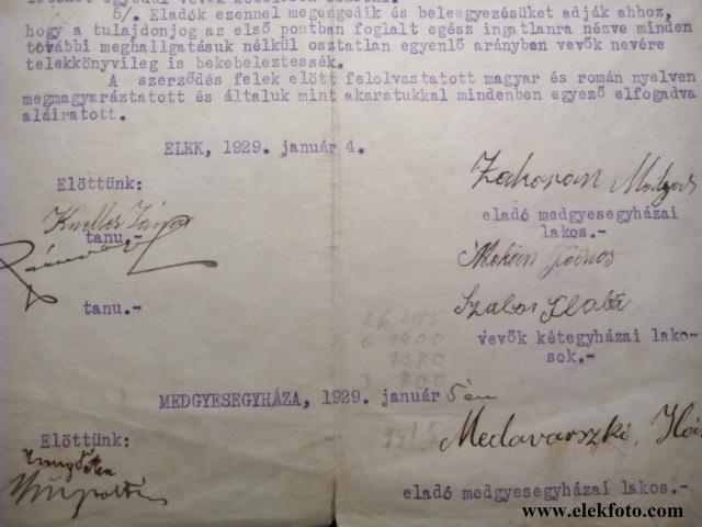 Az adás vételi szerződés egyik tanúja Kneller János.