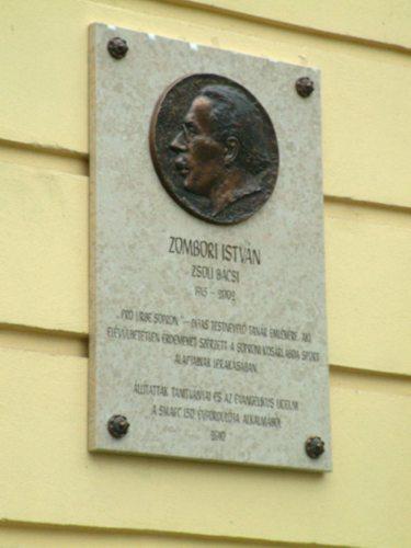 Zombori István emléktábla, Berzsenyi Dániel Evangélikus Líceum, Sopron