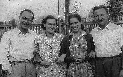 Zombori István, Post Veronika, Mester Györgyné Takács Klára, Mester György, Elek, 1956 nyara