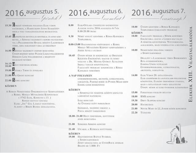 XIII VIlágtalálkozó 2016