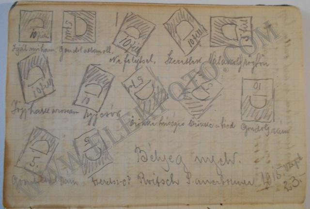 """""""Bélyeg nyelv"""" 1915-ből."""