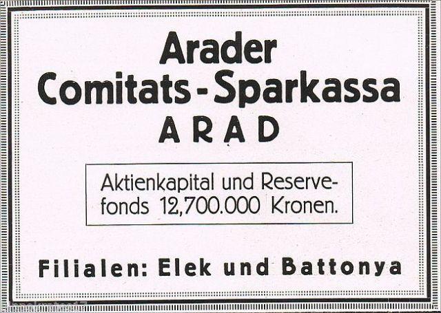 Takarékpénztári hirdetés 1917-ből.