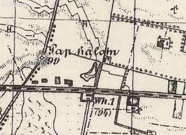 Az őrház egy 1800-as évek végén készült térképen.