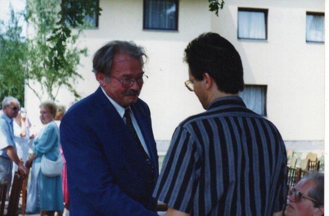 Josef Schneider és if Mester György a díjátadón