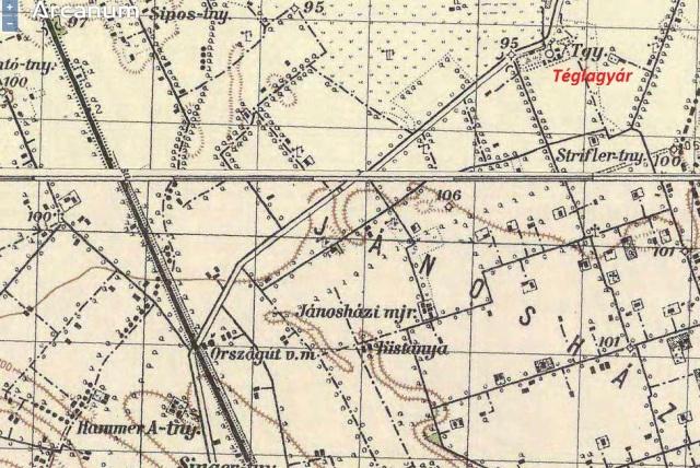 Egy 1941-es katonai térképen Országút vasúti megállóként szerepel.